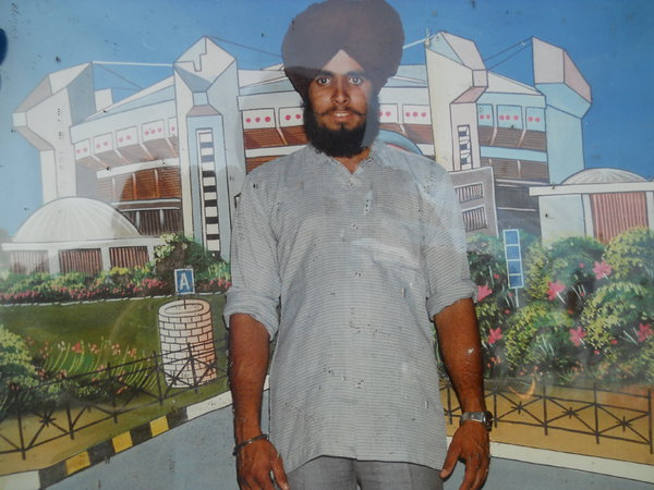 Photo of Pargat Singh, victim of extrajudicial execution between May 10, 1987 and May 20,  1987, in Sarhali Kalan, by Punjab Police