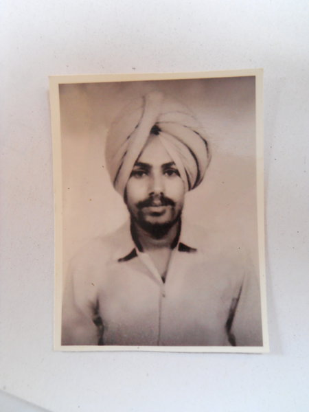 Photo of Rajbir Singh, victim of extrajudicial execution between April 13, 1991 and May 14,  1991, in Dharamkot, by Punjab Police