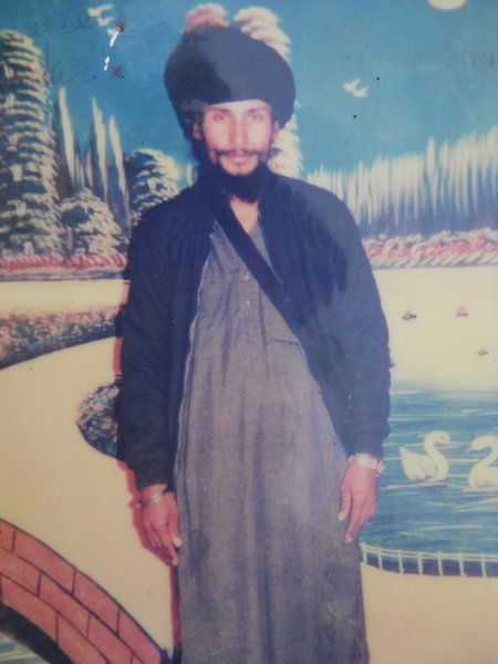 Photo of Joginder Singh, victim of extrajudicial execution on April 10, 1991, in Firozpur, by Punjab Police