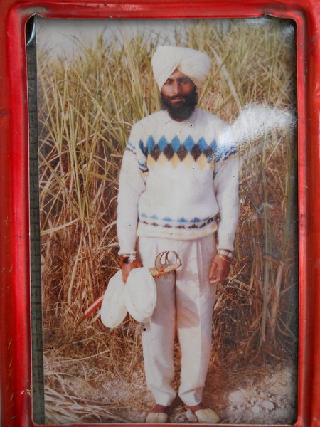 Photo of Buta Singh, victim of extrajudicial execution between August 20, 1993 and August 30,  1993, in Amritsar Mal Mandi CIA Staff,  by Punjab Police; Criminal Investigation Agency, in Tarn Taran, by Punjab Police
