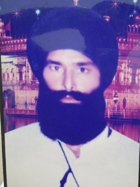 Photo of Satnam Singh, victim of extrajudicial execution on June 7, 1992, in Sabhrai, by Punjab Police