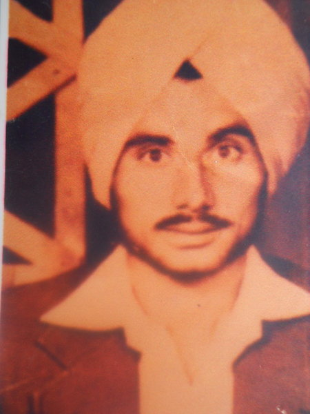 Photo of Gurdev Singh, victim of extrajudicial execution on August 05, 1989, in Harike, by Punjab Police