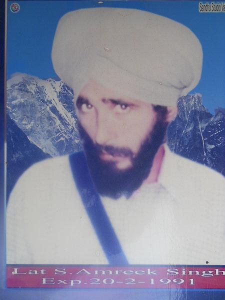 Photo of Amrik Singh, victim of extrajudicial execution on September 23, 1990, in Makhu, by Punjab Police