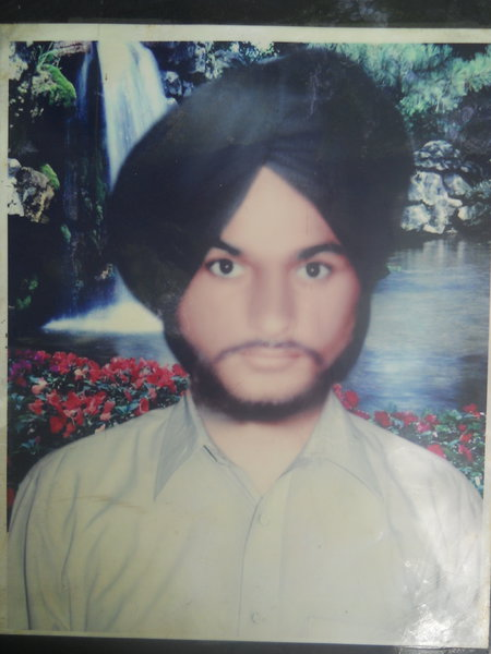 Photo of Gurdev Singh, victim of extrajudicial execution on June 3, 1991, in Amritsar,  by Punjab Police; Central Reserve Police Force, in Amritsar, by Punjab Police