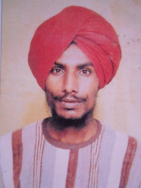 Photo of Gurnam Singh, victim of extrajudicial execution between October 1, 1991 and October 31,  1991, in Patti, by Punjab Police