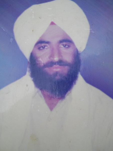 Photo of Sukhwinder Singh, victim of extrajudicial execution on July 13, 1989, in Tarn Taran, by Punjab Police