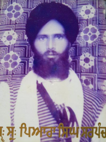 Photo of Piara Singh, victim of extrajudicial execution between March 27, 1993 and May 27,  1993, in Tarn Taran, by Punjab Police