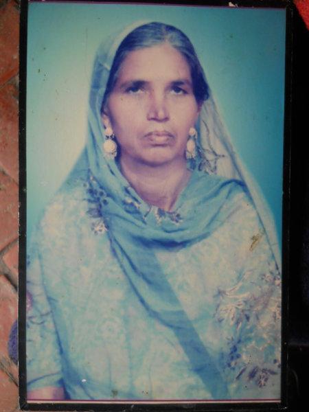 Photo of Sawinder Kaur, victim of extrajudicial execution on November 19, 1992, in Tarn Taran, by Punjab Police