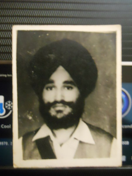Photo of Parmjit Singh, victim of extrajudicial execution between November 15, 1992 and December 17,  1992, in Patti, by Punjab Police