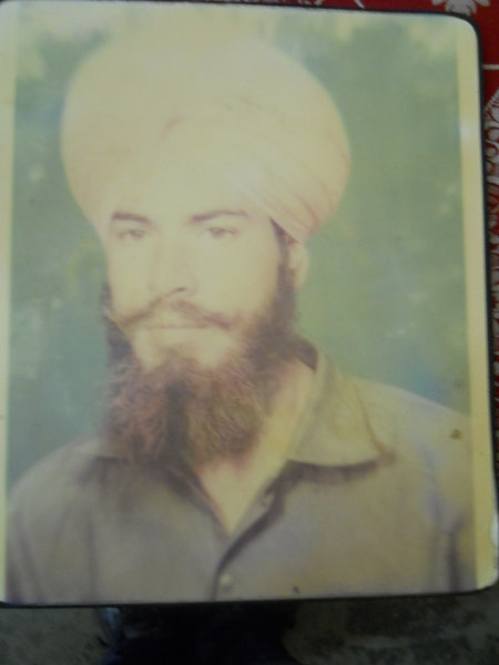 Photo of Sukhwinder Singh, victim of extrajudicial execution between October 3, 1992 and November 3,  1992, in Manochahal,  by Punjab Police; Central Reserve Police Force, in Manochahal, Jhabal Kalan, by Punjab Police