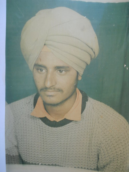 Photo of Sukhdev Singh, victim of extrajudicial execution on August 25, 1991, in Tarn Taran, by Punjab Police