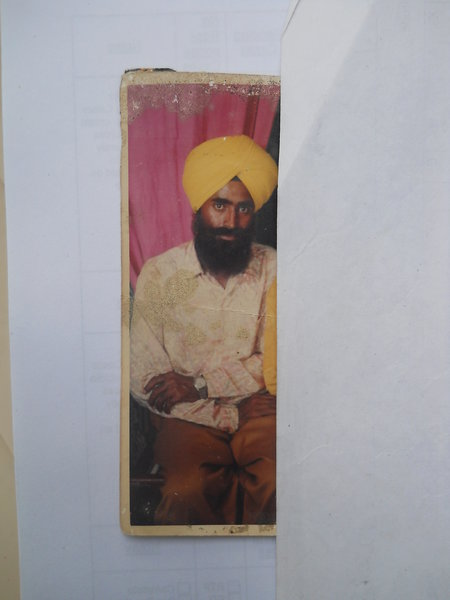 Photo of Gurdev Singh, victim of extrajudicial execution on February 06, 1993, in Patti, by Punjab Police