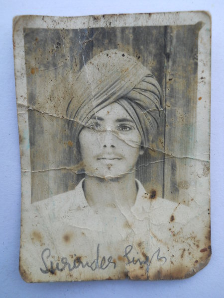 Photo of Surinder Singh, victim of extrajudicial execution, date unknown, in Kot Budha, Valtoha,  by Punjab Police; Central Reserve Police Force, in Valtoha, by Punjab Police