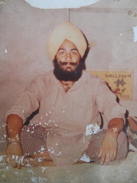 Photo of Rashpal Singh, victim of extrajudicial execution on June 24, 1989, in Tarn Taran,  by Punjab Police; Central Reserve Police Force, in Tarn Taran, by Punjab Police