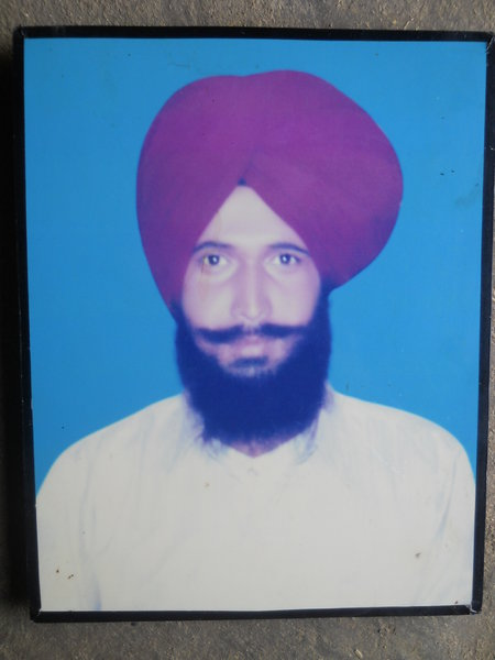 Photo of Major Singh, victim of extrajudicial execution on July 30, 1990, in Dharamkot, by Punjab Police