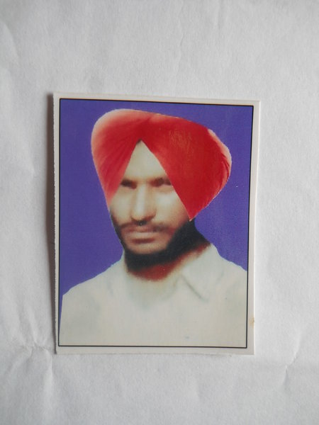 Photo of Baldev Singh, victim of extrajudicial execution on September 25, 1992, in Bhikhiwind, by Punjab Police