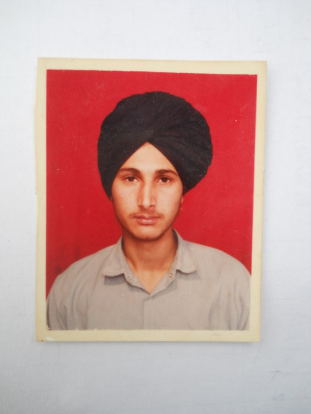 Photo of Gurwinder Singh, victim of extrajudicial execution on April 25, 1991, in Sur Singh,  by Punjab Police; Central Reserve Police Force, in Sur Singh, by Central Reserve Police Force