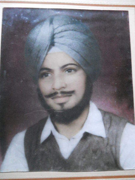 Photo of Amarjit Singh, victim of extrajudicial execution on August 6, 1987, in Amritsar, by Punjab Police