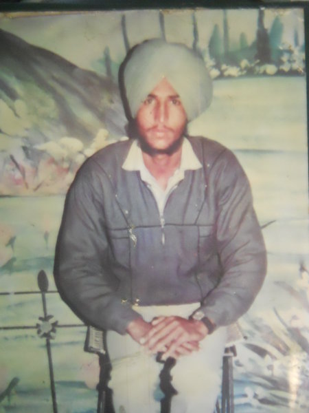 Photo of Balwinder Singh, victim of extrajudicial execution on November 7, 1992, in Valtoha, by Punjab Police