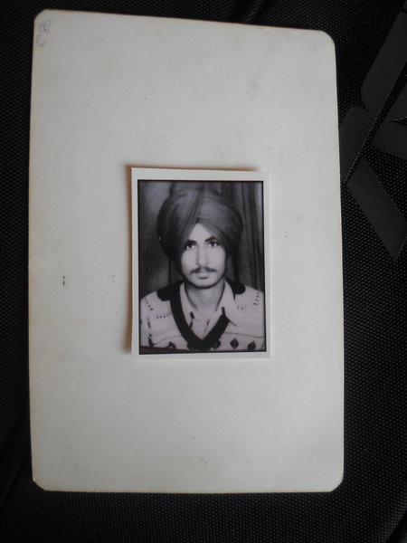 Photo of Kashmir Singh, victim of extrajudicial execution on March 10, 1993, in Kairon, by Punjab Police