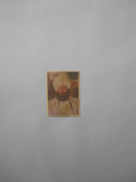 Photo of Sarwan Singh, victim of extrajudicial execution between May 15, 1993 and July 16,  1993, in Bhikhiwind, by Punjab Police