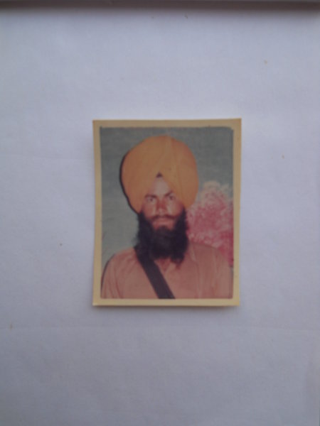 Photo of Gurnam Singh, victim of extrajudicial execution on April 04, 1991, in Goindwal, by Punjab Police