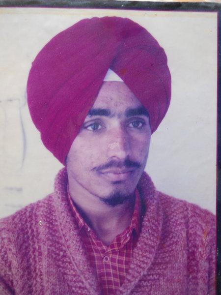Photo of Sarwan Singh, victim of extrajudicial execution on May 23, 1992, in Tarn Taran, by Punjab Police