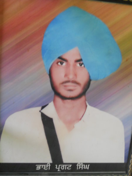 Photo of Pargat Singh, victim of extrajudicial execution on September 27, 1990, in Makhu, by Punjab Police