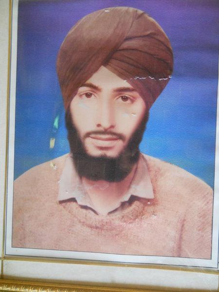 Photo of Pargat Singh, victim of extrajudicial execution on June 28, 1992, in Tarn Taran,  by Punjab Police; Central Reserve Police Force, in Tarn Taran, by Punjab Police