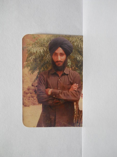 Photo of Charnjit Singh, victim of extrajudicial execution on August 18, 1989, in Kapurthala, by Punjab Police