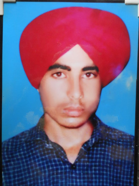 Photo of Sukhdev Singh, victim of extrajudicial execution on December 26, 1992, in Tarn Taran,  by Central Reserve Police Force; Criminal Investigation Agency, in Tarn Taran, by Punjab Police