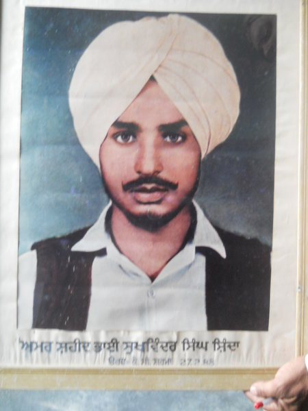 Photo of Sukhwinder Singh, victim of extrajudicial execution on February 27, 1988, in Chandigarh, by Black cat