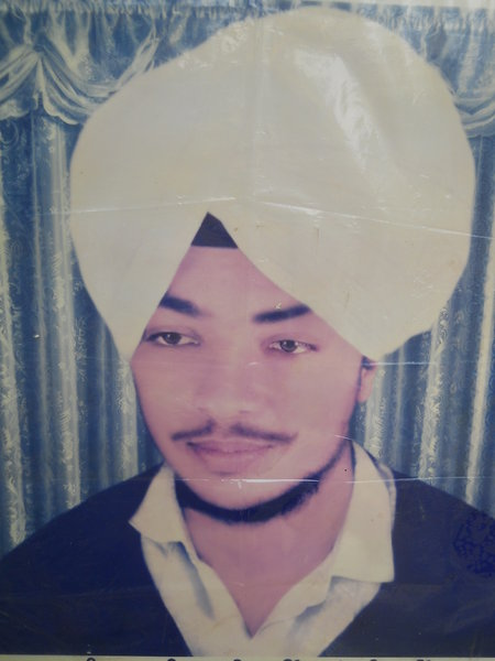 Photo of Gurbhej Singh, victim of extrajudicial execution on January 26, 1991, in Tarn Taran, Amritsar, by Punjab Police