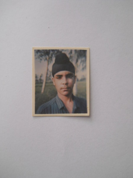 Photo of Amanpreet Singh, victim of extrajudicial execution on March 20, 1992, in Beas, by Punjab Police