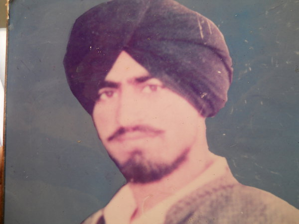 Photo of Gurmeet Singh, victim of extrajudicial execution between July 15, 1989 and July 17,  1989 by Unknown type of security forces, in Ramdas, by Punjab Police