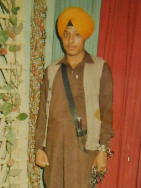Photo of Manjit Singh, victim of extrajudicial execution between December 31, 1987 and January 1,  1988, in Amritsar, by Punjab Police