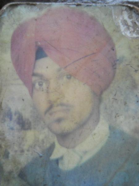 Photo of Jarnail Singh, victim of extrajudicial execution between May 24, 1992 and May 30,  1992, in Jhabal Kalan, by Punjab Police
