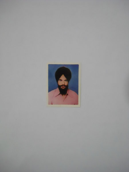 Photo of Mohinder Singh, victim of extrajudicial execution on December 15, 1987, in Verowal, by Punjab Police