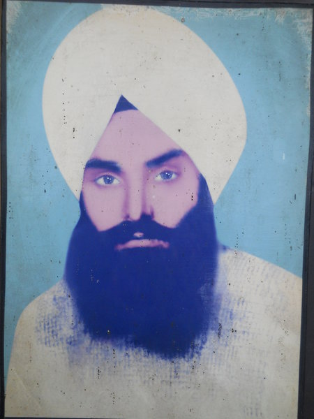 Photo of Dharm Singh, victim of extrajudicial execution on February 1, 1990, in Sultanwind, by Punjab Police