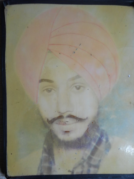 Photo of Balraj Singh, victim of extrajudicial execution between May 17, 1991 and May 20,  1991 by Unknown type of security forces, in Ludhiana, by Punjab Police