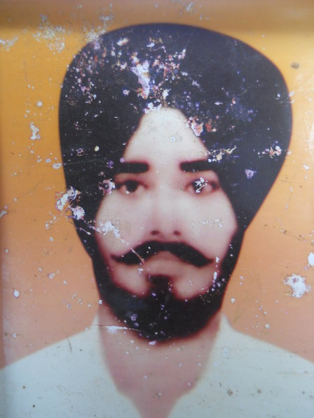 Photo of Satnam Singh, victim of extrajudicial execution between February 17, 1987 and February 20,  1987, in Tarn Taran,  by Punjab Police; Central Reserve Police Force, in Tarn Taran, by Punjab Police