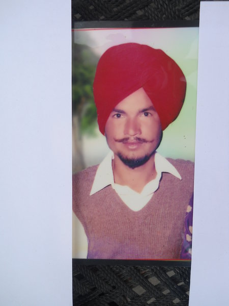 Photo of Malkeet Singh, victim of extrajudicial execution on June 10, 1991, in Bhogpur, by Punjab Police
