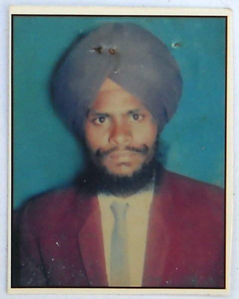 Photo of Jaspal Singh, victim of extrajudicial execution between June 12, 1990 and June 18,  1990, in Jandiala,  by Punjab Police; Central Reserve Police Force, in Jandiala, by Punjab Police