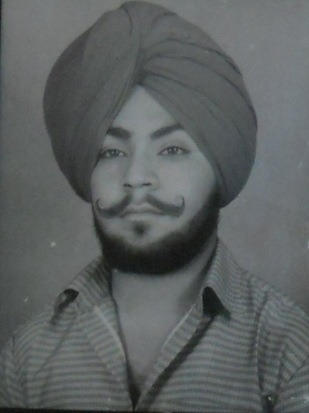 Photo of Sarvpreet Singh, victim of extrajudicial execution on September 20, 1987, in Amritsar, by Punjab Police