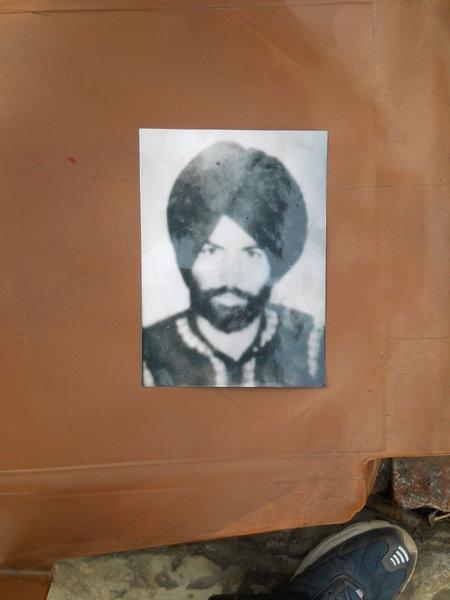 Photo of Baldev Singh, victim of extrajudicial execution on November 20, 1991, in Chheharta Sahib, by Punjab Police