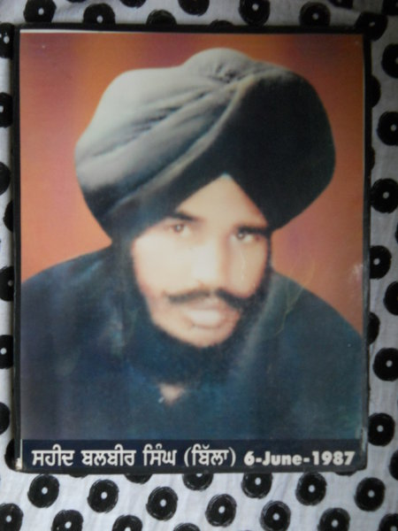 Photo of Balvir Singh, victim of extrajudicial execution on June 06, 1987Unknown type of security forces