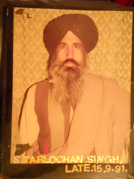 Photo of Tarlochan Singh, victim of extrajudicial execution on September 15, 1991, in Bathinda,  by Unknown type of security forces, in Bathinda, by Unknown type of security forces