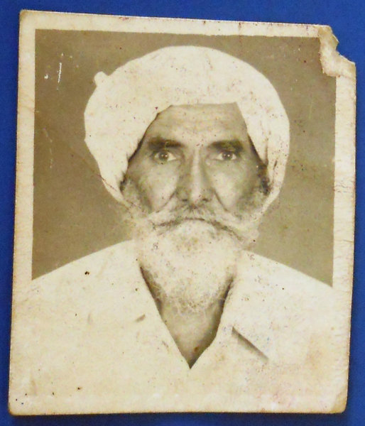 Photo of Gurcharan Singh, victim of extrajudicial execution on August 15, 1992, in Jhabal Kalan, by Punjab Police
