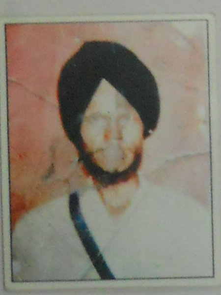 Photo of Baldev Singh, victim of extrajudicial execution on August 20, 1992, in Patti,  by Punjab Police; Central Reserve Police Force, in Patti, by Punjab Police