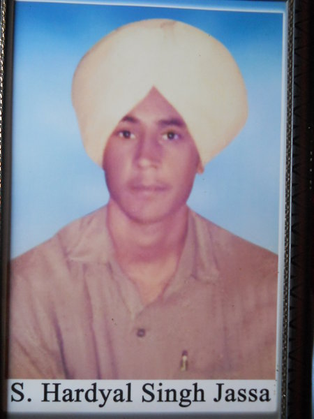 Photo of Hardyal Singh, victim of extrajudicial execution on July 28, 1987, in Jandiala, by Punjab Police